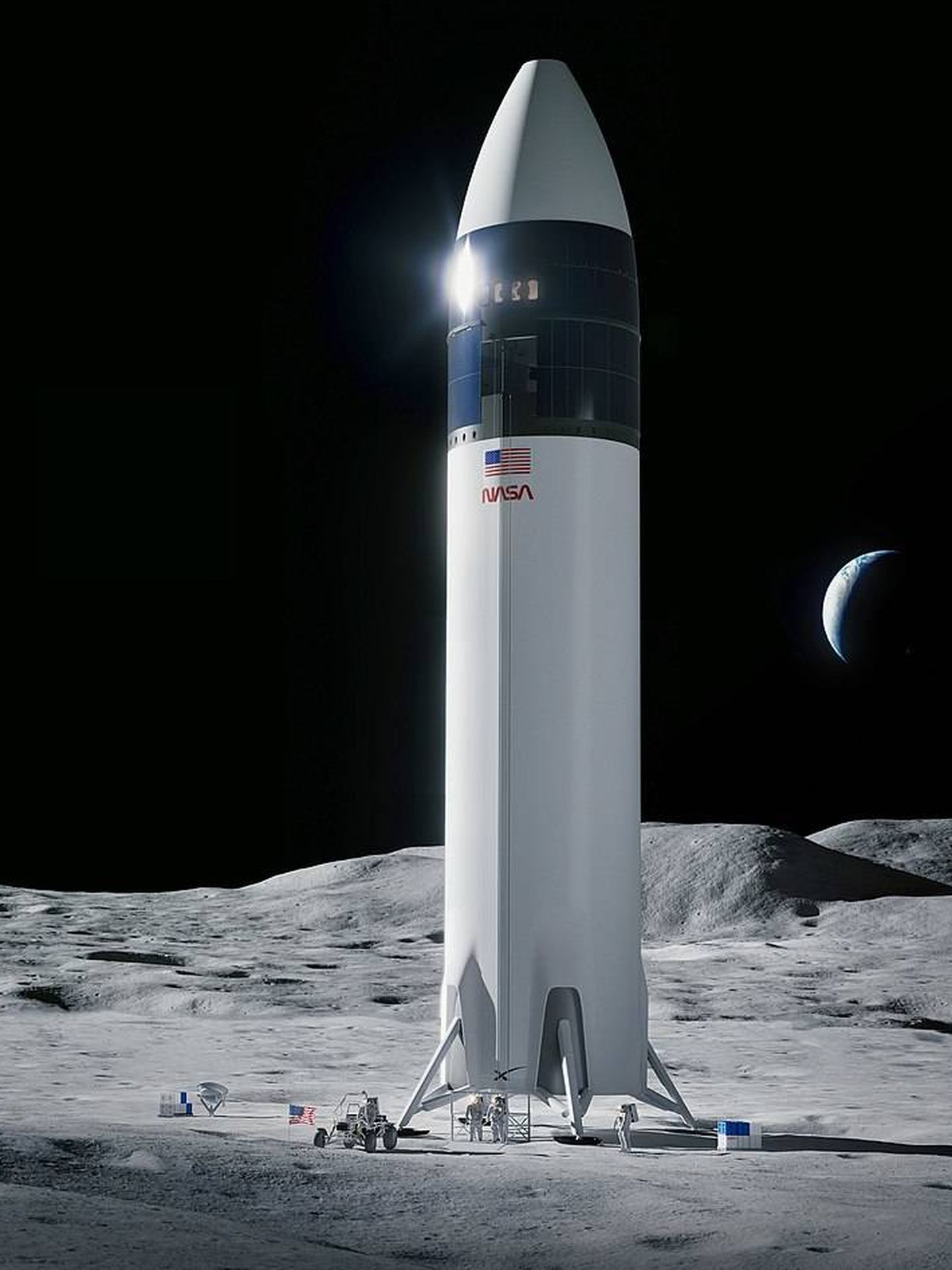 La variante de aterrizaje lunar del Starship que se usará en las misiones Artemis de la NASA (SpaceX)
