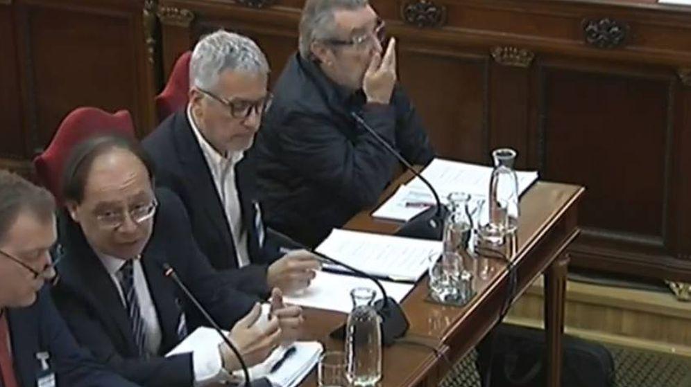 Foto: Los cuatro peritos, en el juicio del 'procés'