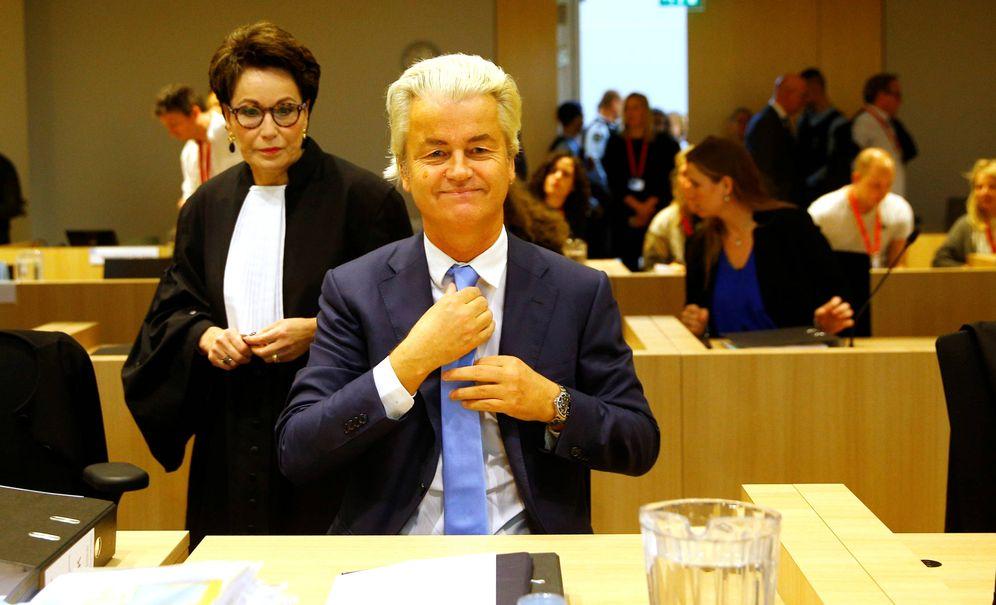 Foto: Geert Wilders durante un juicio en Schipol, Países Bajos, el 24 de octubre de 2017. (Reuters)