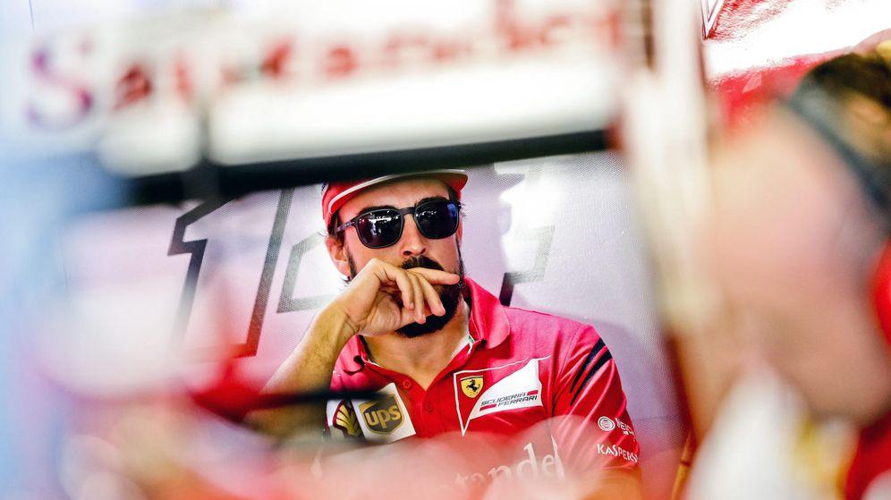Foto: Fernando Alonso en su última carrera con Ferrari. (EFE)