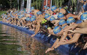 El triatlón y la integración se dan la mano en el Villa de Madrid