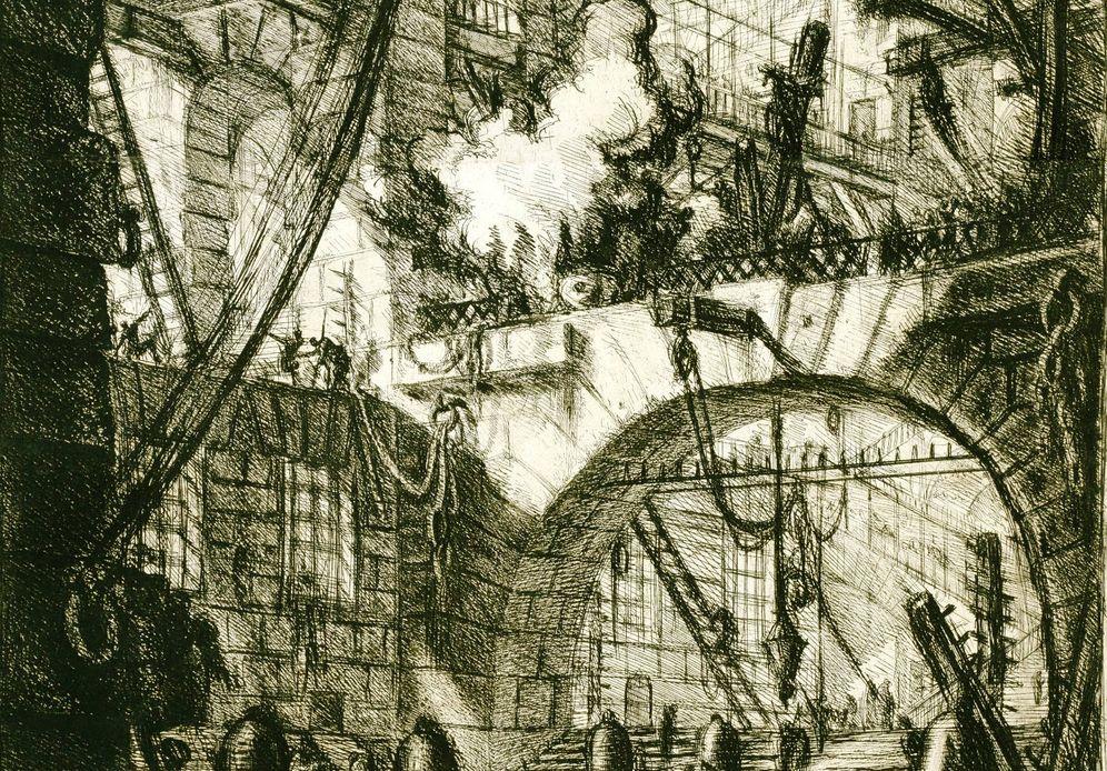 Foto: Detalle de 'The Smoking Fire', de Giovanni Battista Piranesi (1770)