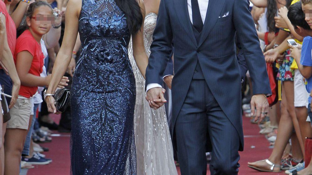 Foto: La presentadora y el futbolista en la boda de Alejandro Talavante y Jessica Ramírez (Gtres)