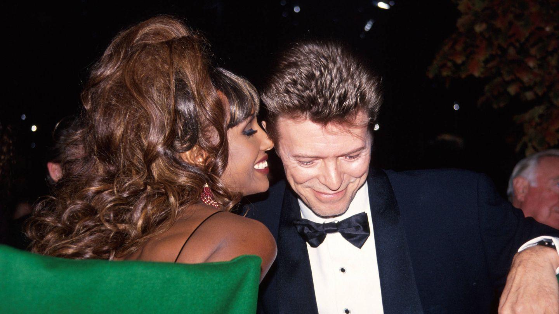 Bowie y su mujer, Iman, en 1992. (Getty)