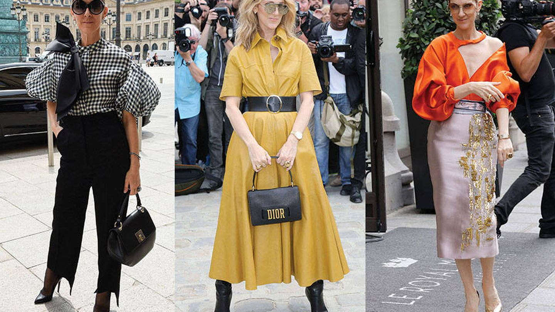 A la izquierda lleva un bolso de su propia colección, además de pantalones de Celine, blusa de Dice Kayek y zapatos de Tom Ford. En el centro va de Christian Dior.