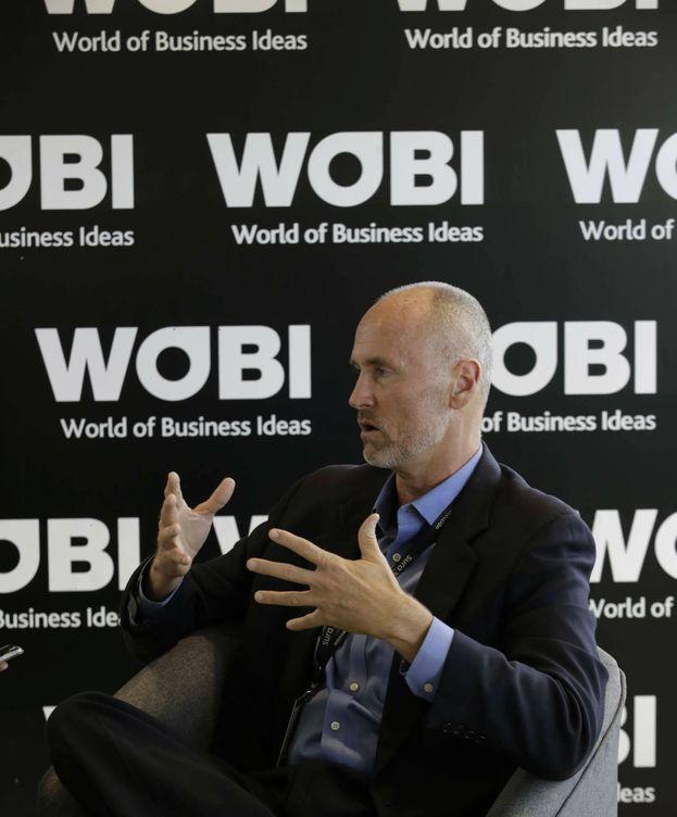 Foto: Chip Conley, durante la entrevista realizada esta semana en Bogotá en el marco del congreso WOBI.