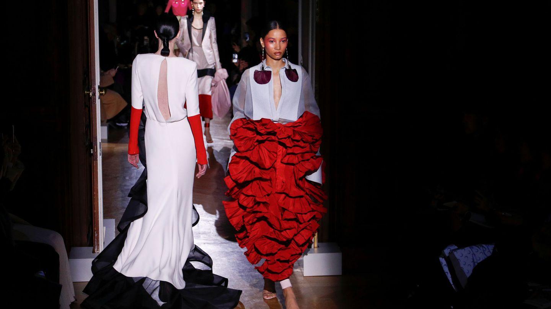 Falda de volantes, pura poesía. (Reuters)