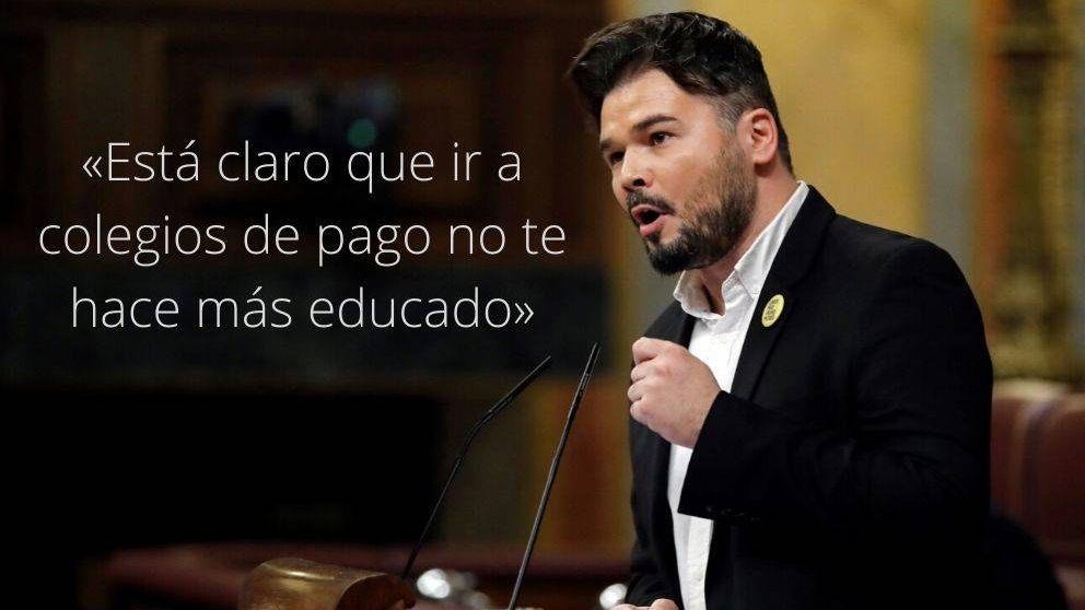 Las frases de Rufián (ERC) en la investidura: La decisión de la JEC es un golpe de Estado