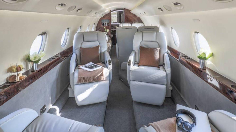 Interior del avión. (ConceptGlobalJet)