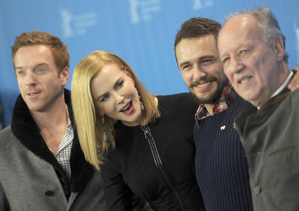 Foto: Damien Lewis, Nicole Kidman, James Franco y Werner Herzog en Berlín (Reuters)