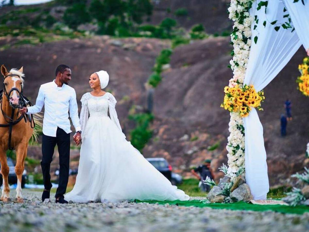 Foto: La boda de Yusuf Buhari y Zahra Nasir. (Instagram)