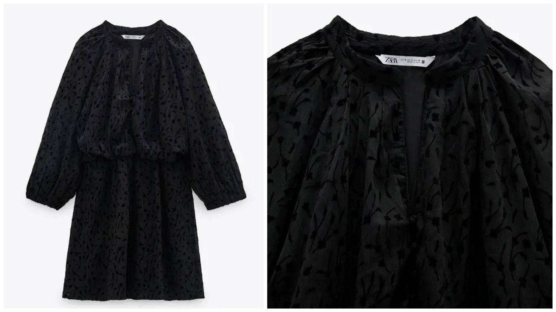 Vestidos negro de Zara. (Cortesía)