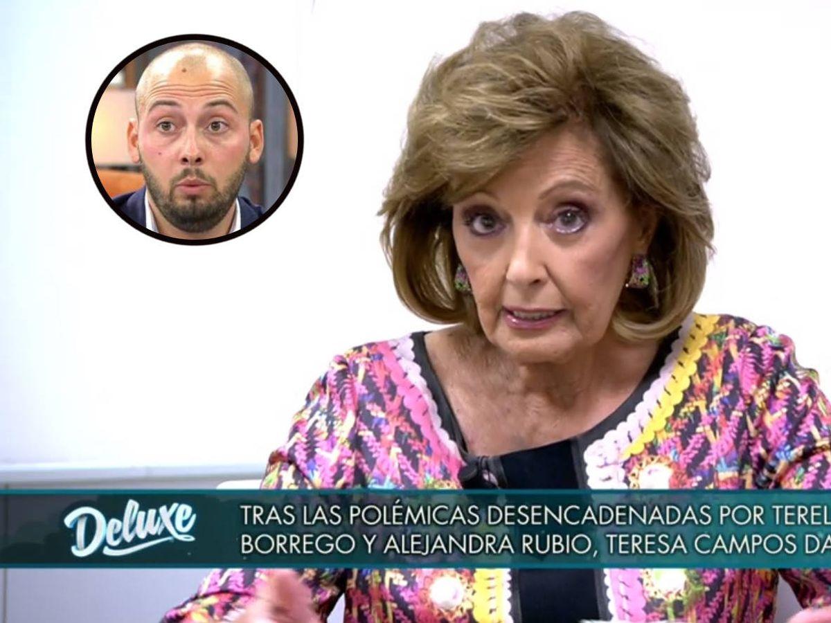 Foto: María Teresa Campos, en 'Sábado Deluxe'. (Telecinco).