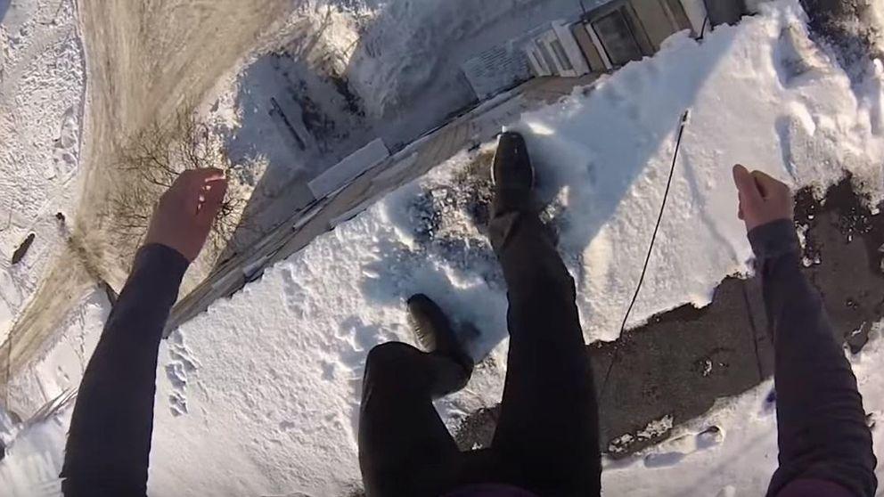 El 'hombre inmortal' ruso que se lanza desde un quinto piso y resulta ileso