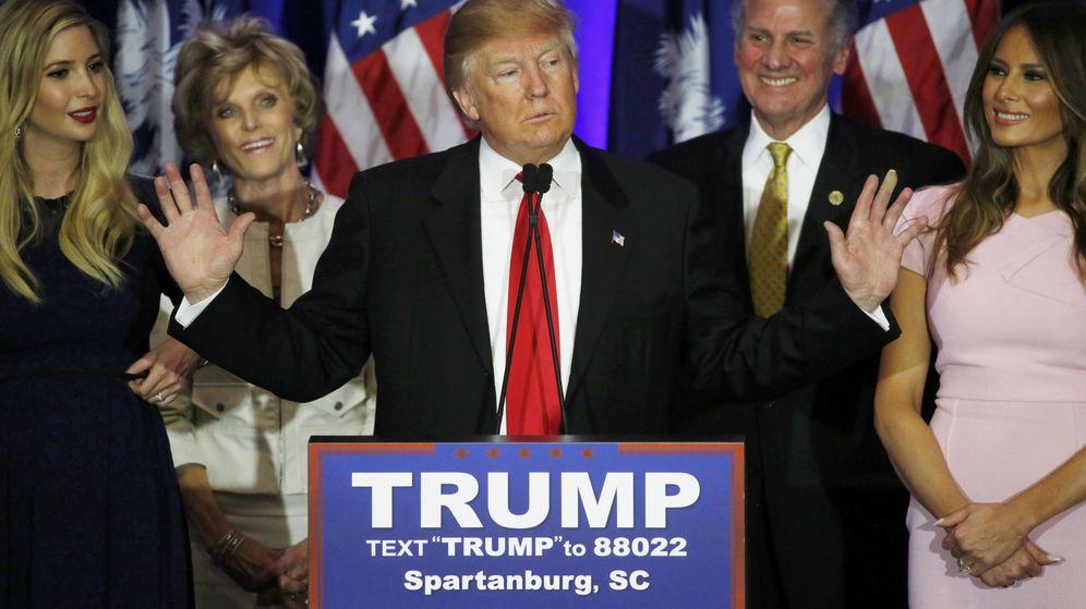 Foto: Trump se dirige a sus partidarios tras su victoria en Carolina del Sur (Reuters)