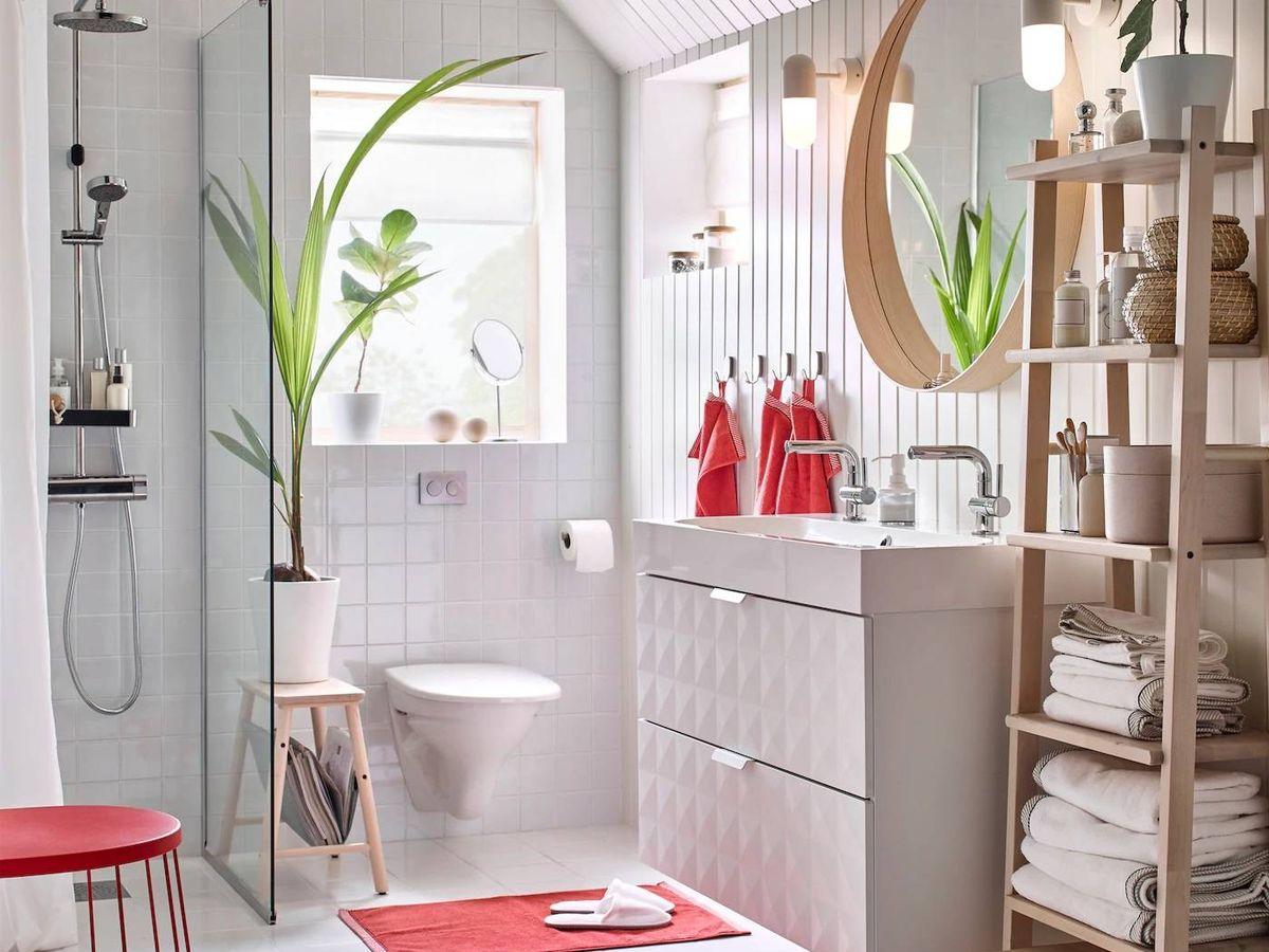 Foto: Un baño organizado con Ikea. (Cortesía)