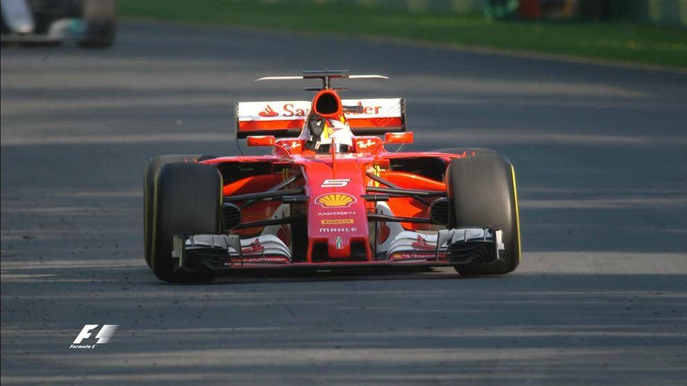 'Ciao' Mercedes: Vettel destrona a Hamilton y Alonso abandona