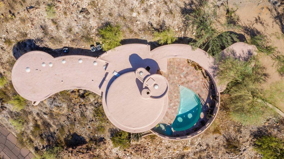 Foto: La icónica casa circular de Frank Lloyd Wright en Arizona. (EFE)