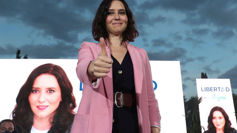 Isabel Díaz Ayuso durante la campaña electoral. (Reuters)