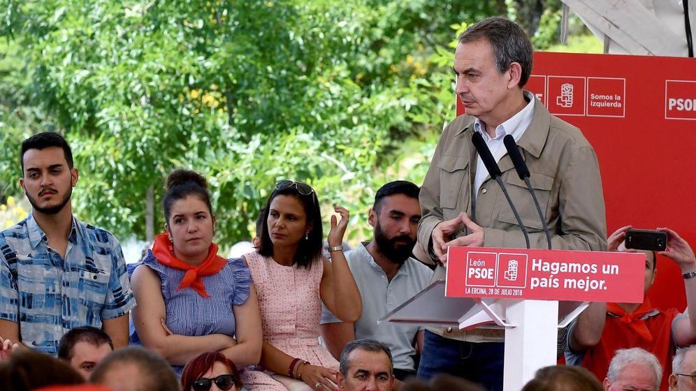 Foto: El expresidente del Gobierno, José Luis Rodríguez Zapatero en un acto en León. (EFE)