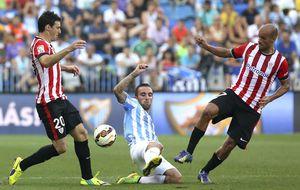 Mateu anula un gol en el descuento a Iraizoz que da el triunfo al Málaga