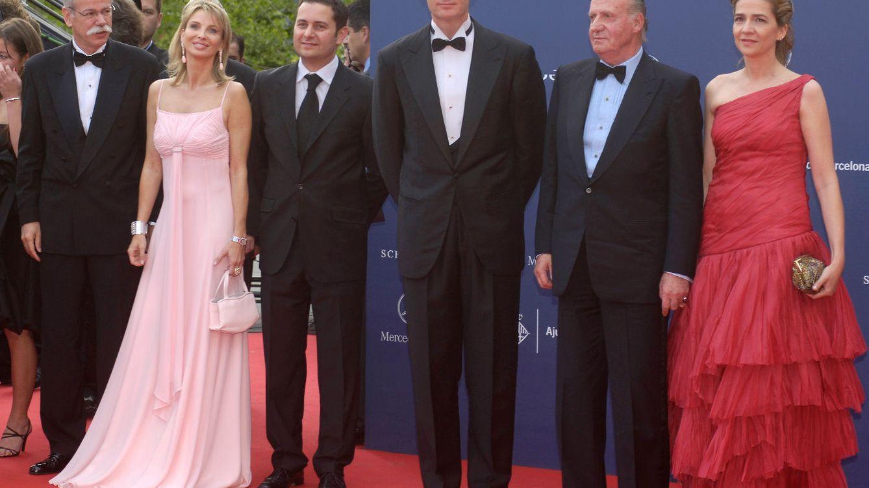 Foto: La princesa Corinna con Urdangarin, el Rey Juan Carlos y la infanta Cristina