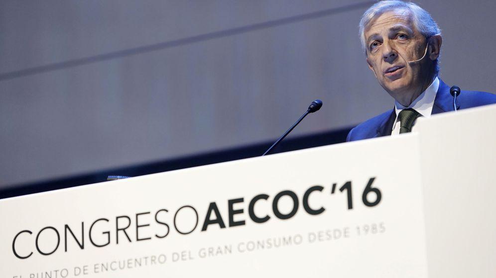 Foto: El presidente de AECOC, Javier Campo, durante su intervención ayer en el 31º Congreso de Gran Consumo de AECOC. (EFE)