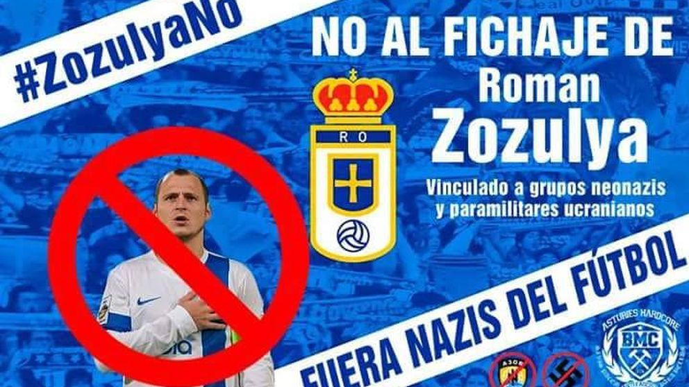 La afición del Oviedo no quiere a Zozulya: El nazismo no contempla el respeto