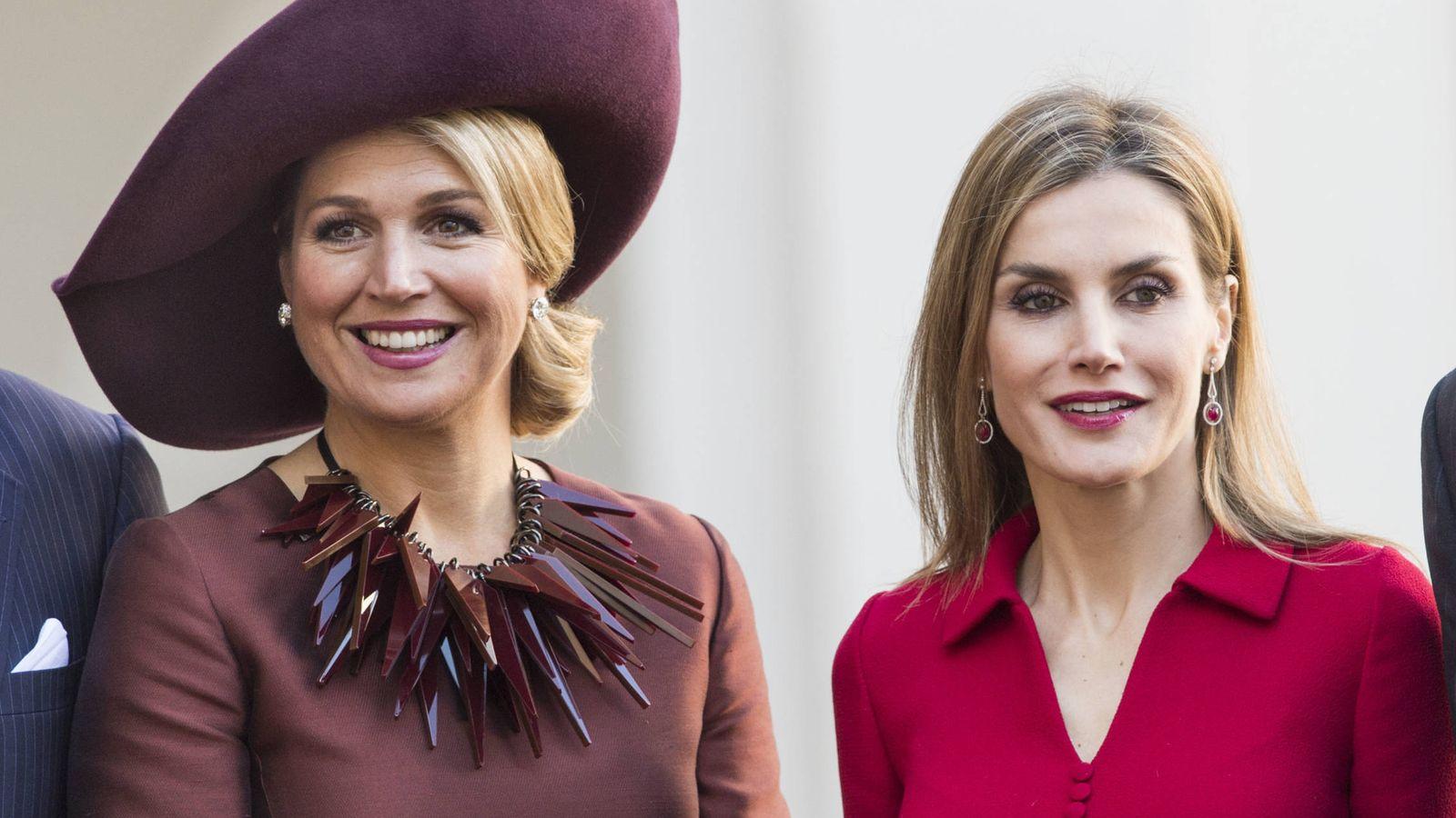 Foto: Doña Letizia y la reina Máxima en una imagen de archivo. (Getty)