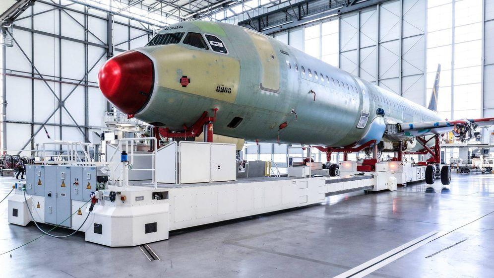 Foto: Producción del A320 en la fábrica de Hamburgo. (Airbus)