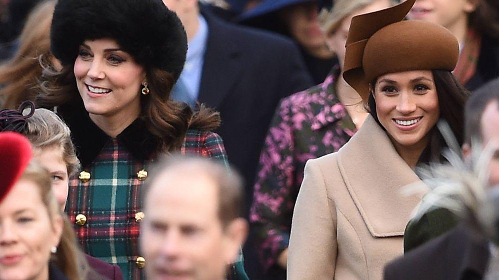 Foto: Primer duelo de estilo de Kate Middleton y Meghan Markle. (Gtres)