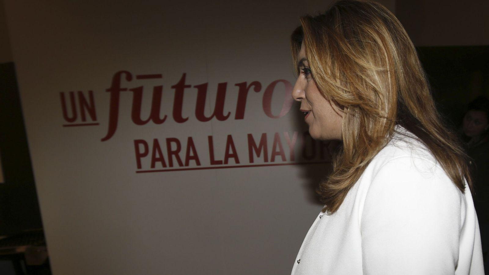 Foto: La presidenta de Andalucía, Susana Díaz, durante la reunión del comité federal del PSOE, el pasado 28 de diciembre. (EFE)