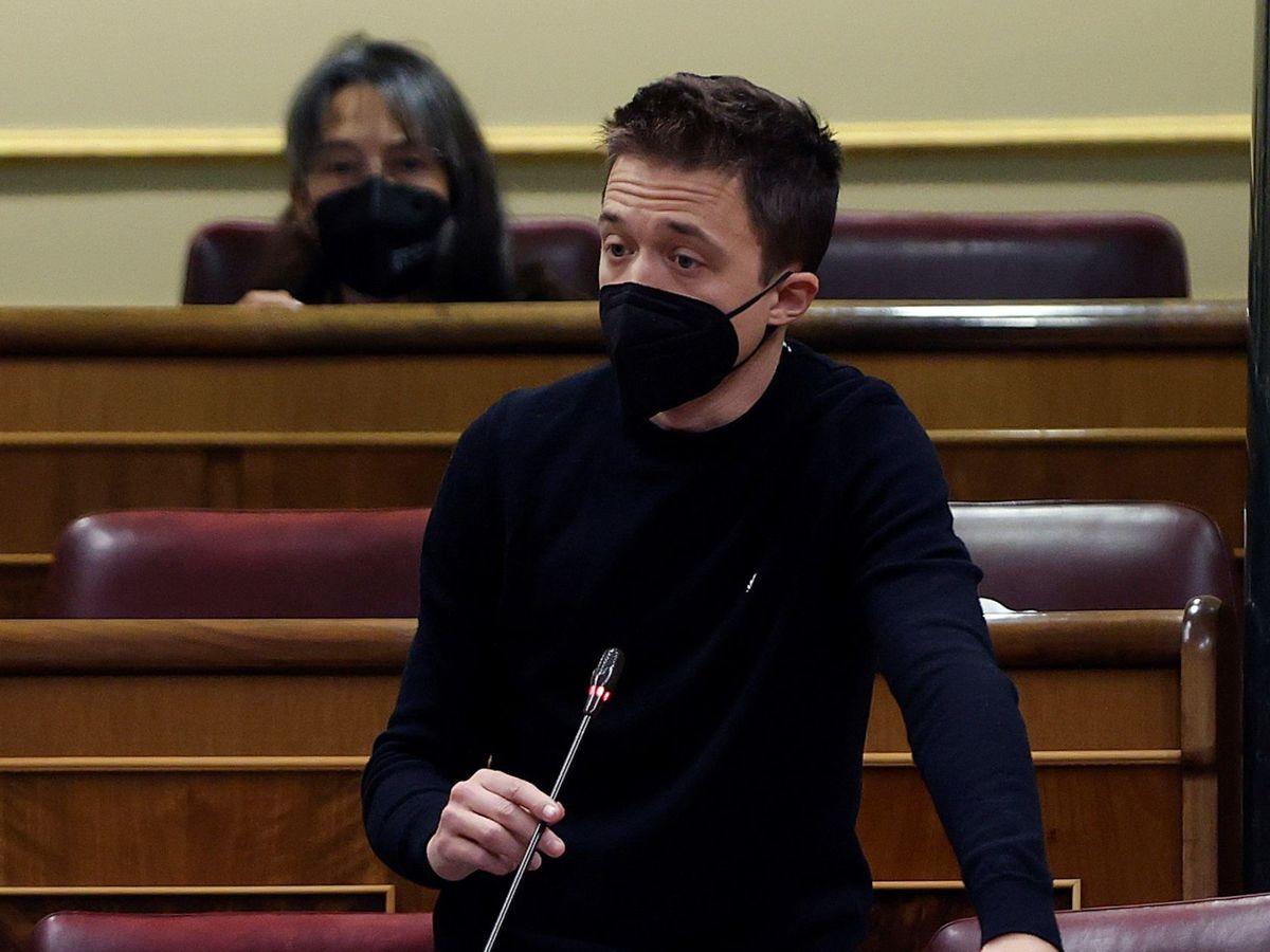 Foto: Intervención de Iñigo Errejón en el Congreso de los Diputados. (EFE)