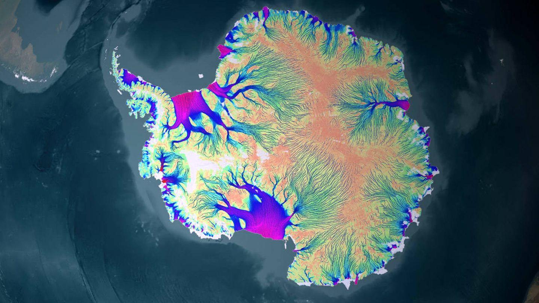 Pérdida de hielo en la Antártida (NASA)