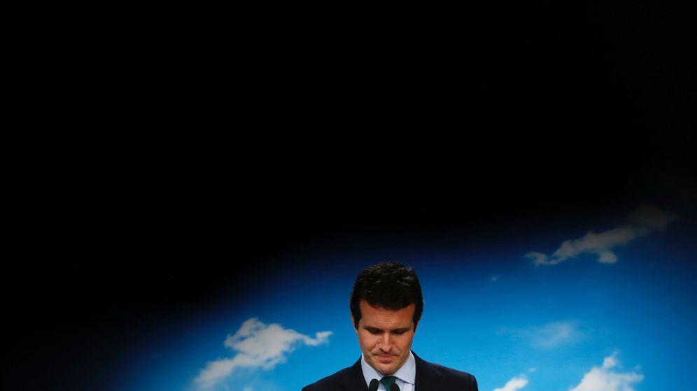Foto: El líder del Partido Popular, Pablo Casado, tras las elecciones generales de 2019. (Reuters)