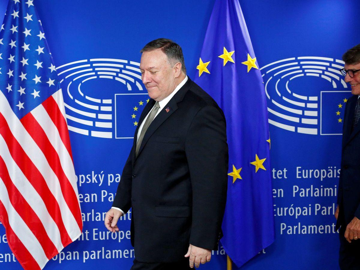 Foto: Mike Pompeo, secretario de Estado de EEUU, durante una visita a Bruselas en septiembre de 2019. (Reuters)