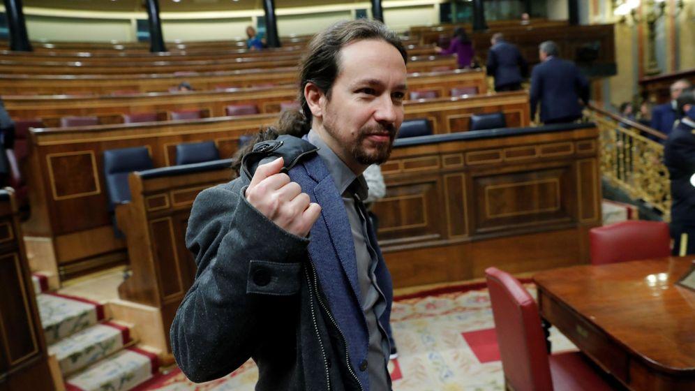 Foto: Pablo Iglesias en el Congreso de los Diputados. (EFE)