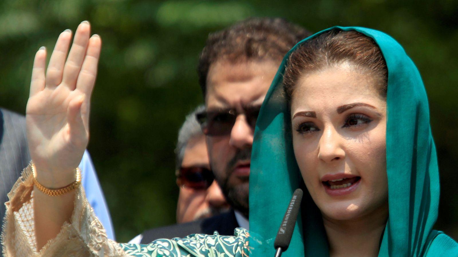 Foto: La hija del primer ministro pakistaní, Maryam Nawaz, ante la prensa. (REUTERS)