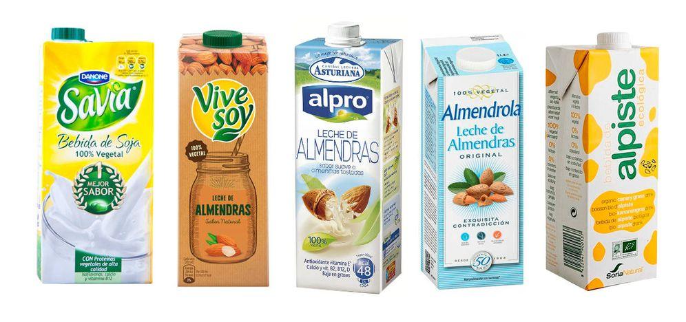 Foto: Algunas de las marcas que comercializan bebidas vegetales. (EC)