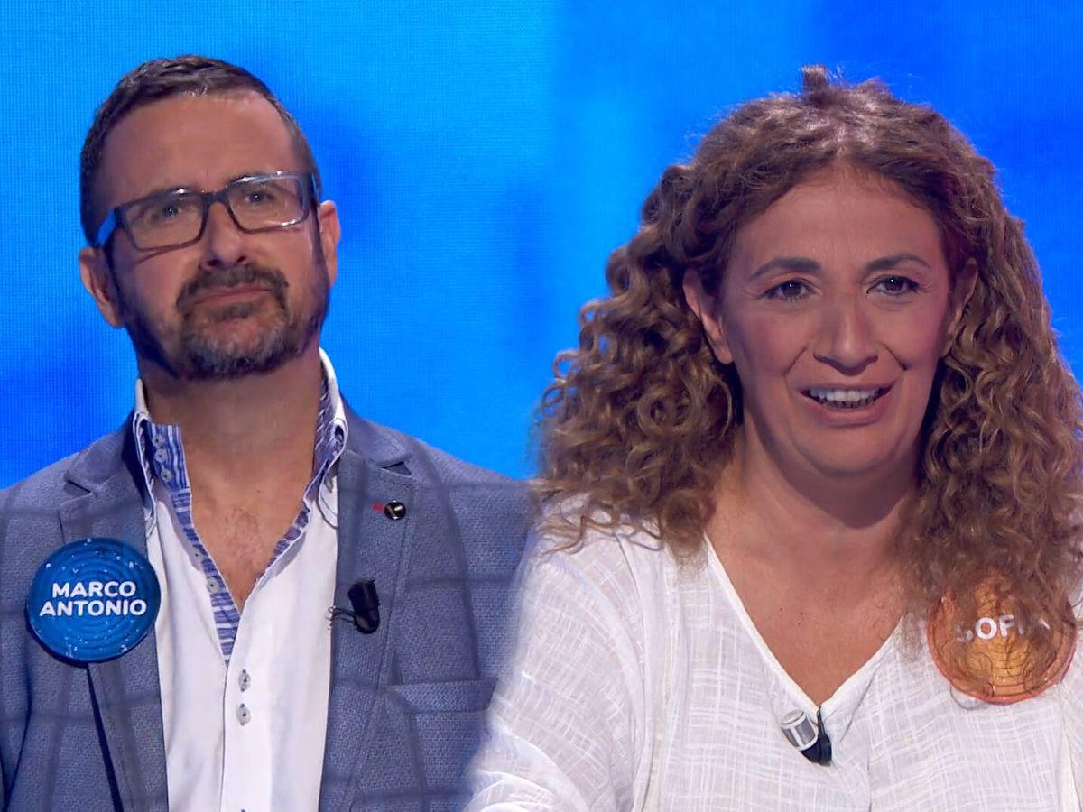 Foto: Marco Antonio y Sofía, en 'Pasapalabra'. (Antena 3)