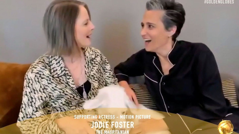 Jodie Foster, con su mujer, Alexandra Hedison.(Reuters)