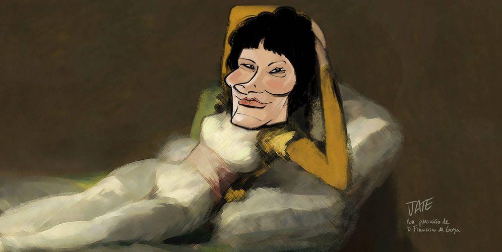 Foto: Carmina Ordóñez. (Ilustración realizada por Jate para Vanitatis)