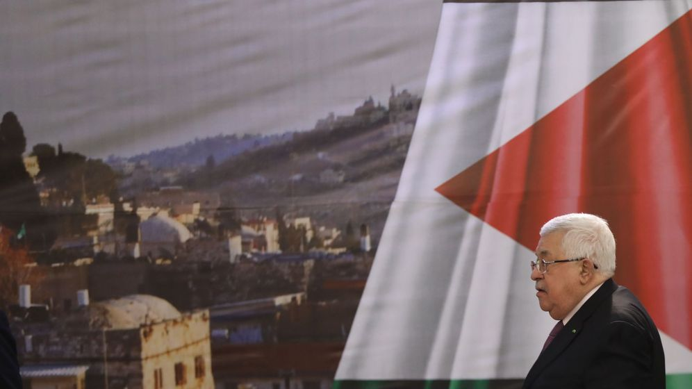 Foto: Mahmoud Abbas en una comparecencia tras conocerse la propuesta de EEUU. (EFE)