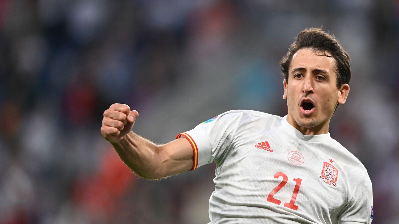 Oyarzabal celebra su penalti contra Suiza. (Efe)
