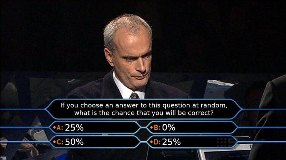 Foto: No es una pregunta real del programa, sino un montaje que se ha hecho viral en las redes sociales. (MatttGFX/Twitter)