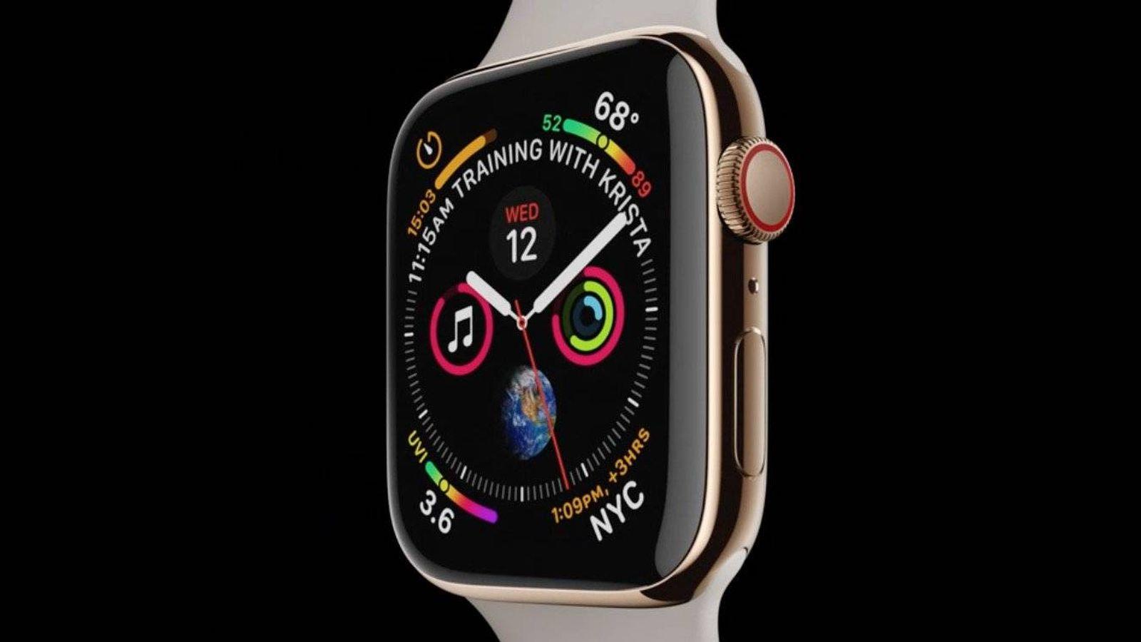 db0f242b430 Apple  Chapa y pintura para el Apple Watch Series 4  más pantalla y más  centrado en salud