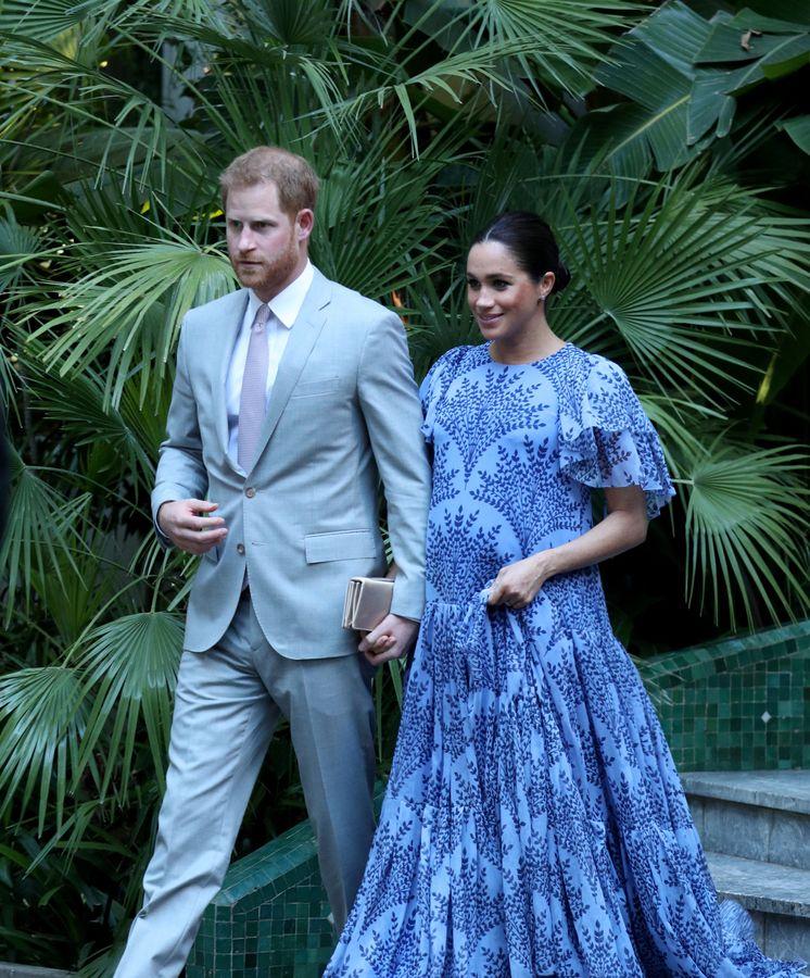 Foto: Los duques de Sussex llegando a la residencia del rey Mohamed VI. (Reuters)