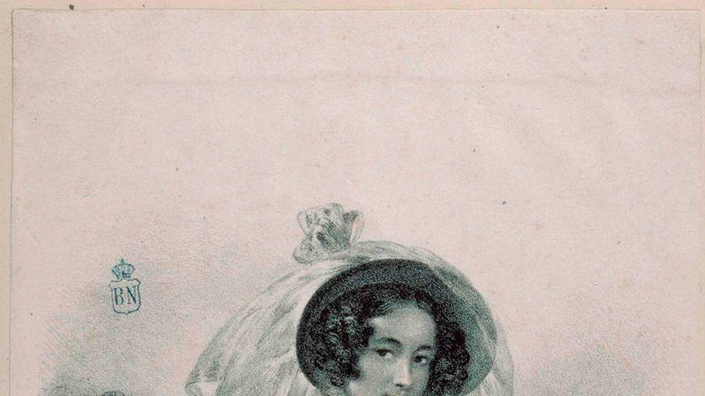 Foto: Autorretrato de Rosario Weiss, dibujado hacia 1828. (Biblioteca Nacional)