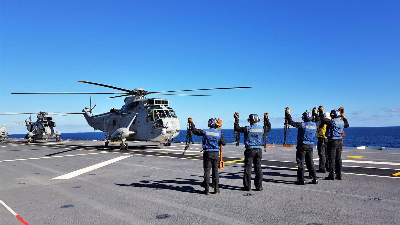 Operaciones aéreas con helicópteros. (Foto: Juanjo Fernández)