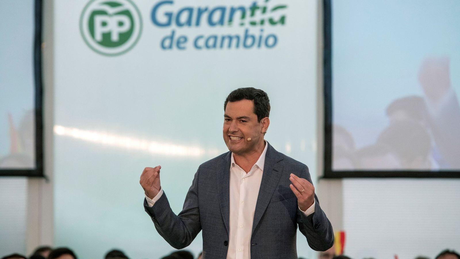 Foto: El presidente del Partido Popular en Andalucía, Juanma Moreno. (EFE)